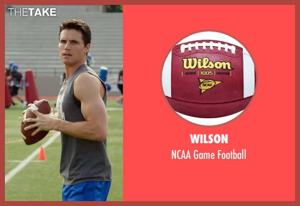 Wilson football from The DUFF seen with Robbie Amell (Wesley)