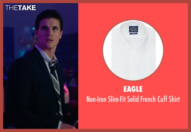 Eagle white shirt from The DUFF seen with Robbie Amell (Wesley)