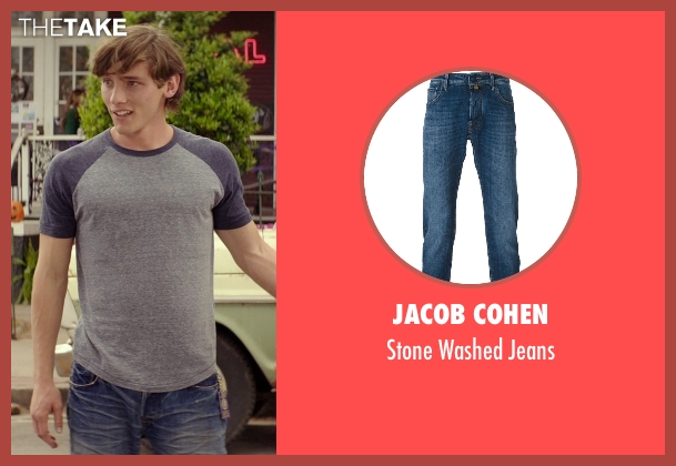 Jacob Cohen blue jeans from The Best of Me seen with Robby Rasmussen (Bobby Cole)