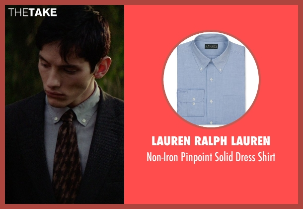 Lauren Ralph Lauren blue shirt from The Best of Me seen with Robby Rasmussen (Bobby Cole)