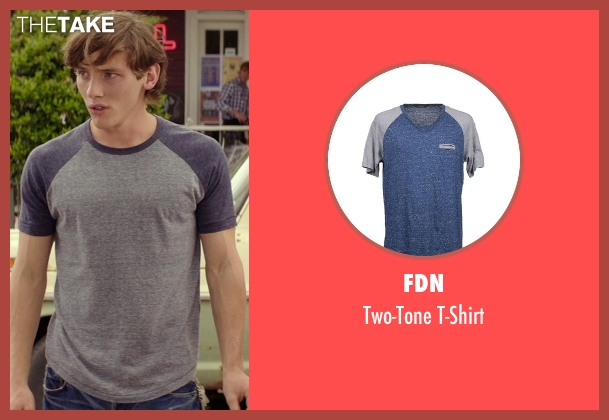 Fdn blue t-shirt from The Best of Me seen with Robby Rasmussen (Bobby Cole)