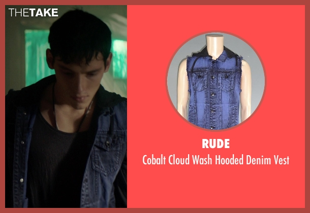 Rude blue vest from The Best of Me seen with Robby Rasmussen (Bobby Cole)