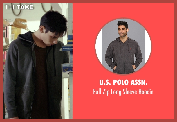 U.S. Polo Assn. gray hoodie from The Best of Me seen with Robby Rasmussen (Bobby Cole)