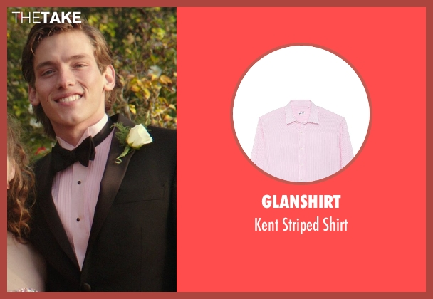 Glanshirt pink shirt from The Best of Me seen with Robby Rasmussen (Bobby Cole)