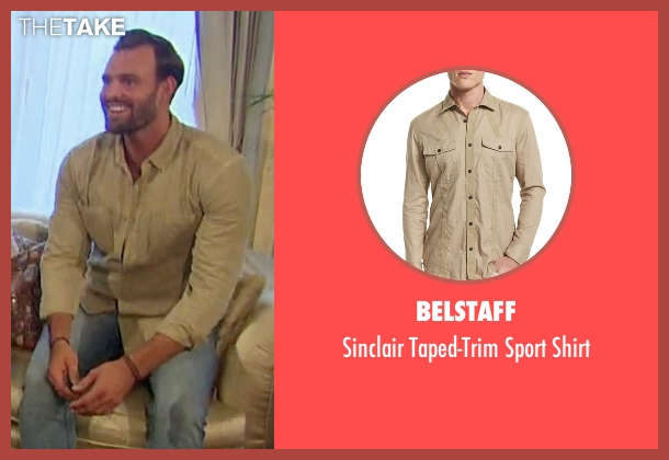 Belstaff beige shirt from The Bachelorette seen with Robby