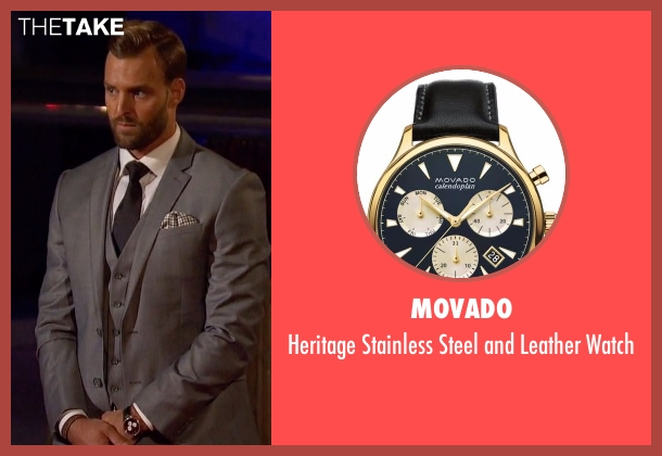 Movado  black watch from The Bachelorette seen with Robby
