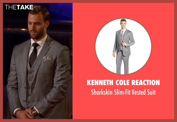 Kenneth Cole Reaction gray suit from The Bachelorette seen with Robby