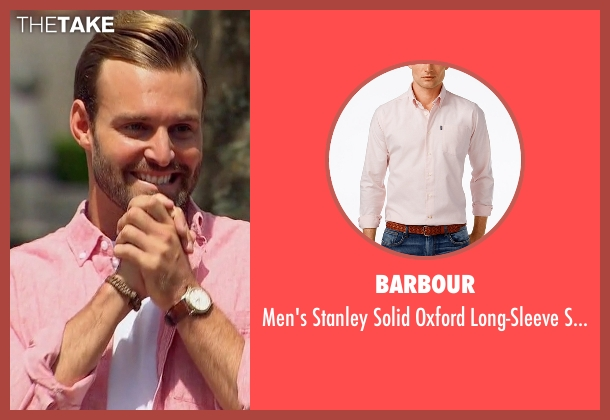 Barbour pink shirt from The Bachelorette seen with Robby