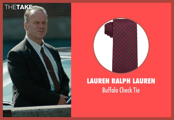 Lauren Ralph Lauren red tie from The Place Beyond The Pines seen with Robert Clohessy (Chief Weirzbowski)