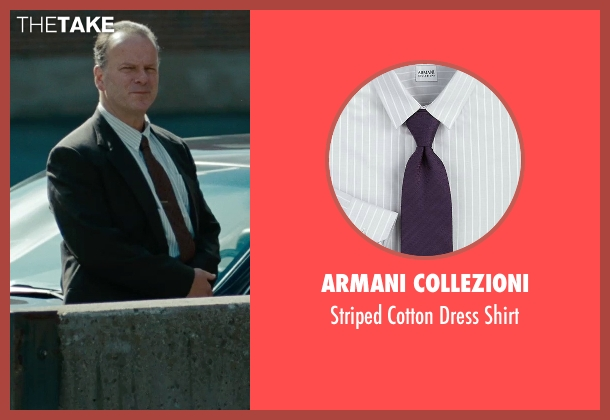 Armani Collezioni white shirt from The Place Beyond The Pines seen with Robert Clohessy (Chief Weirzbowski)