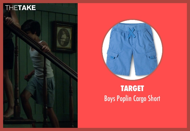 Target blue short from Sinister 2 seen with Robert Daniel Sloan (Dylan)