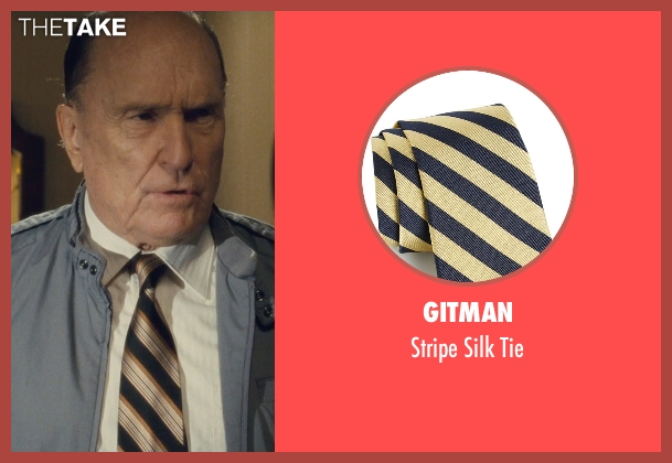 Gitman beige tie from The Judge seen with Robert Duvall (Judge Joseph Palmer)