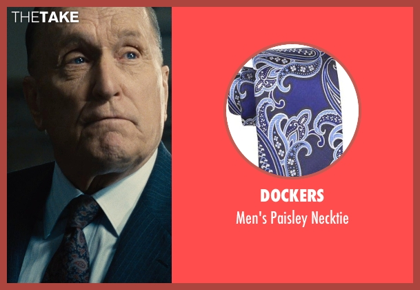 Dockers blue necktie from The Judge seen with Robert Duvall (Judge Joseph Palmer)
