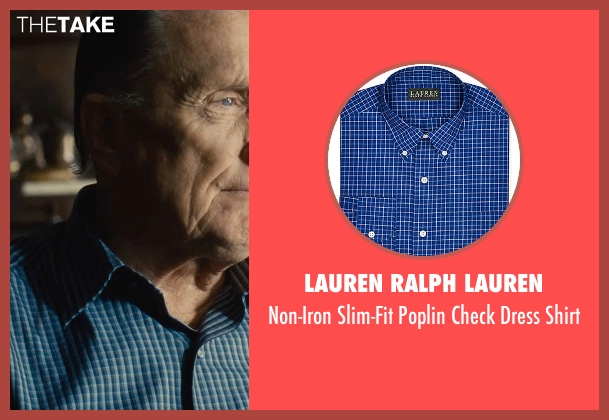 Lauren Ralph Lauren blue shirt from The Judge seen with Robert Duvall (Judge Joseph Palmer)