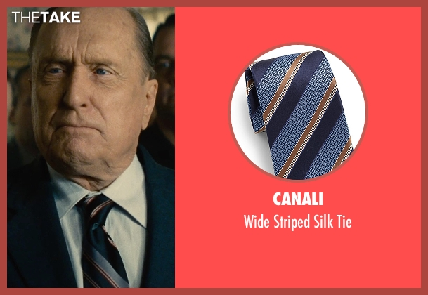 Canali blue tie from The Judge seen with Robert Duvall (Judge Joseph Palmer)