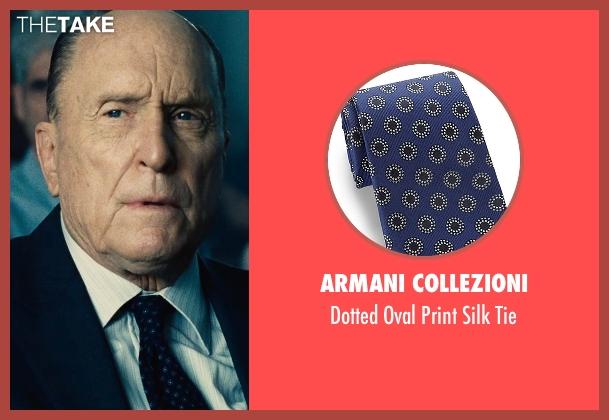 Armani Collezioni blue tie from The Judge seen with Robert Duvall (Judge Joseph Palmer)