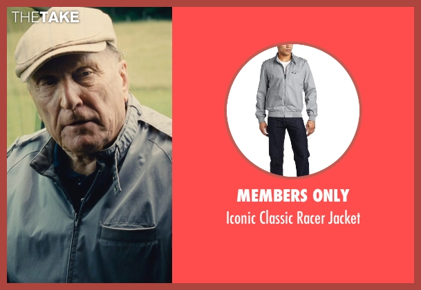 Members Only gray jacket from The Judge seen with Robert Duvall (Judge Joseph Palmer)