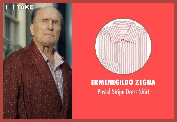 Ermenegildo Zegna pink shirt from The Judge seen with Robert Duvall (Judge Joseph Palmer)