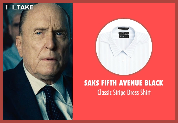 Saks Fifth Avenue Black white shirt from The Judge seen with Robert Duvall (Judge Joseph Palmer)