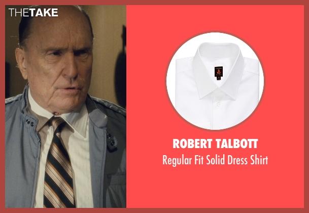 Robert Talbott white shirt from The Judge seen with Robert Duvall (Judge Joseph Palmer)