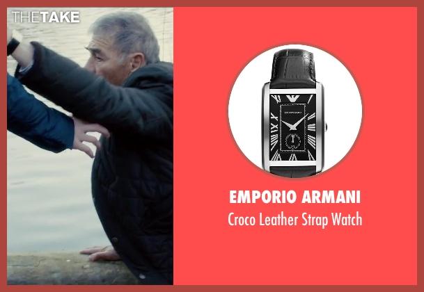 Emporio Armani black watch from Survivor seen with Robert Forster (Bill Talbot)