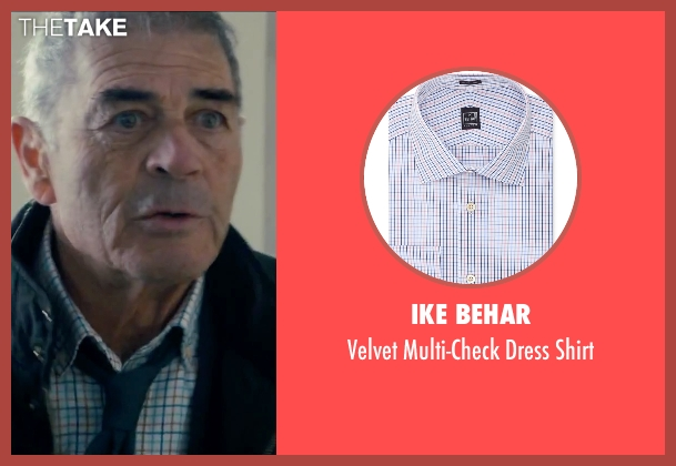 Ike Behar blue shirt from Survivor seen with Robert Forster (Bill Talbot)