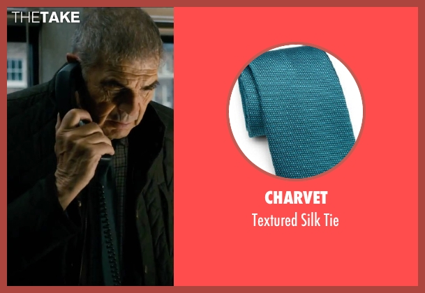 Charvet blue tie from Survivor seen with Robert Forster (Unknown Character)