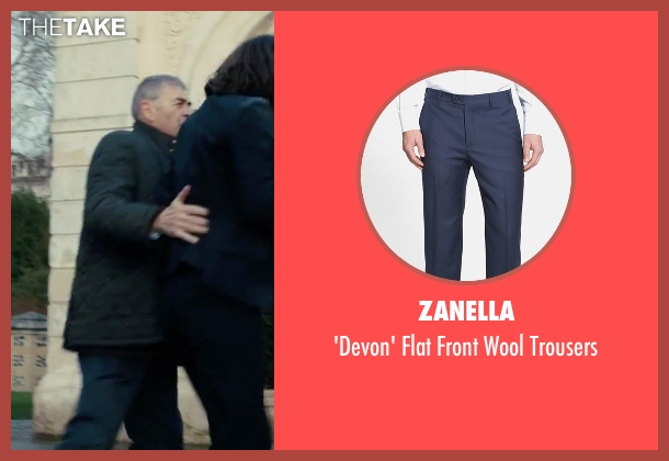 Zanella blue trousers from Survivor seen with Robert Forster (Bill Talbot)