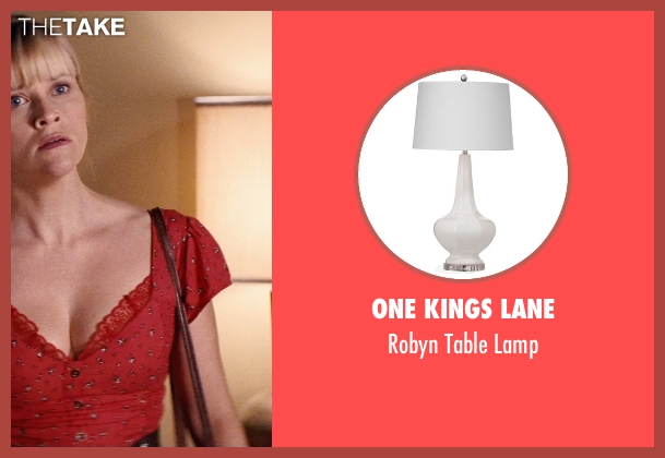 One Kings Lane white lamp from Hot Pursuit seen with Robert Kazinsky (Unknown Character)