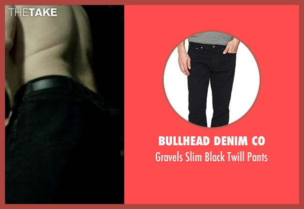 Bullhead Denim Co black pants from Brick Mansions seen with Robert Maillet (Yeti)