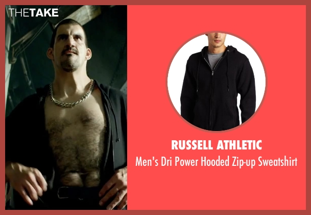 Russell Athletic black sweatshirt from Brick Mansions seen with Robert Maillet (Yeti)