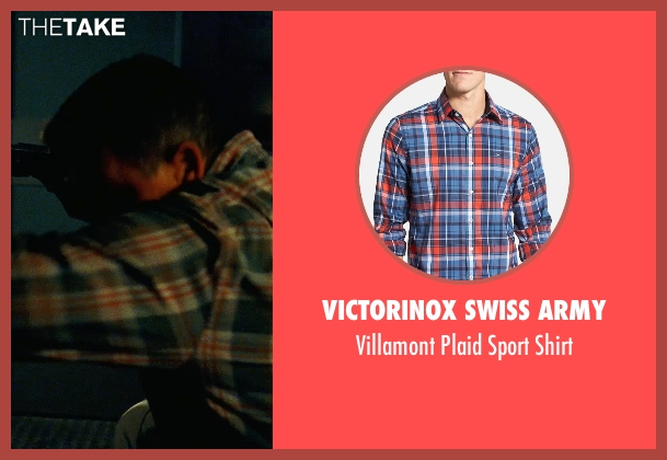 Victorinox Swiss Army blue shirt from Safe House seen with Robert Patrick (Daniel Kiefer)