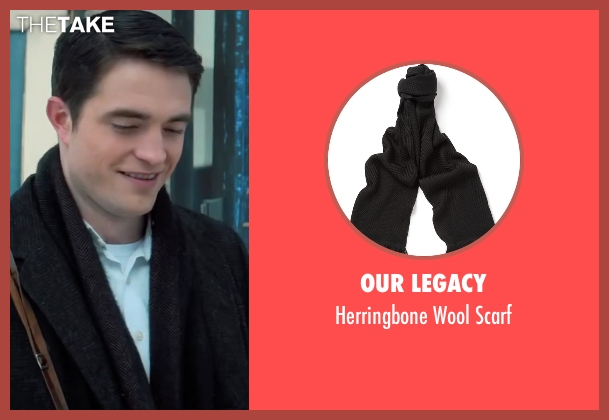 Our Legacy black scarf from Life seen with Robert Pattinson (Dennis Stock)
