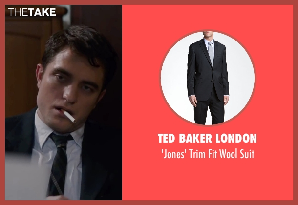 Ted Baker London black suit from Life seen with Robert Pattinson (Dennis Stock)