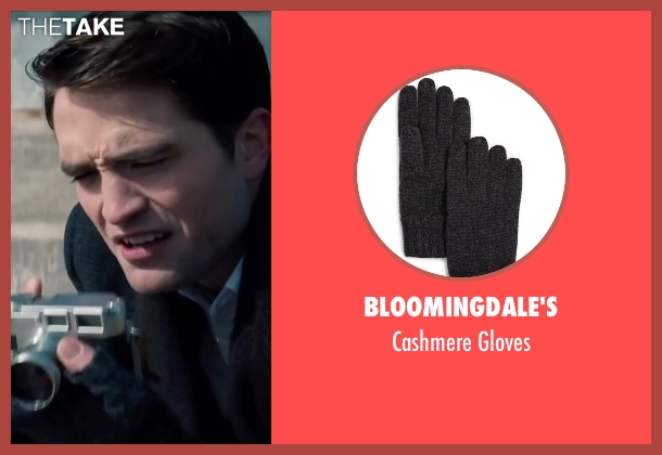 Bloomingdale's gray gloves from Life seen with Robert Pattinson (Dennis Stock)