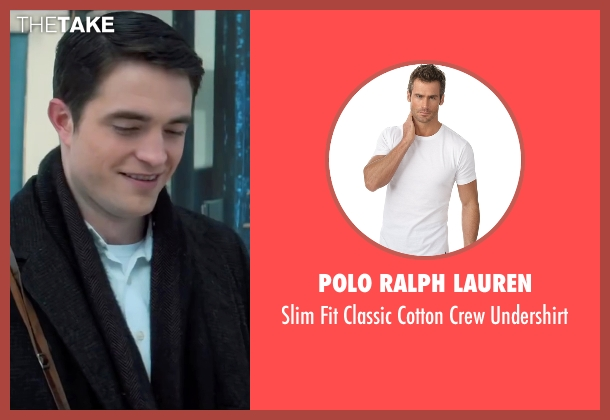 Polo Ralph Lauren white undershirt from Life seen with Robert Pattinson (Dennis Stock)