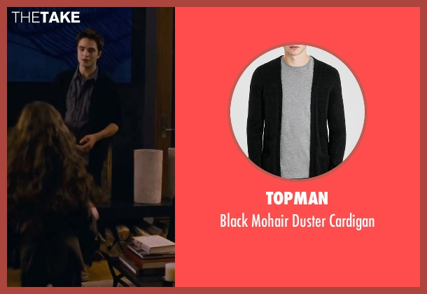 Topman black cardigan from The Twilight Saga: Breaking Dawn - Part 2 seen with Robert Pattinson (Edward Cullen)