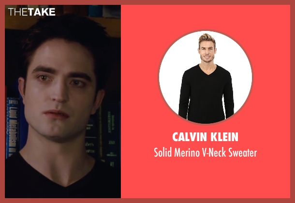 Calvin Klein black sweater from The Twilight Saga: Breaking Dawn - Part 2 seen with Robert Pattinson (Edward Cullen)