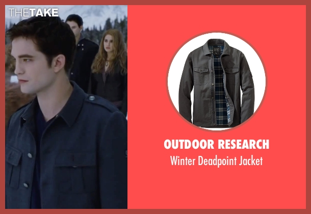 Outdoor Research gray jacket from The Twilight Saga: Breaking Dawn - Part 2 seen with Robert Pattinson (Edward Cullen)