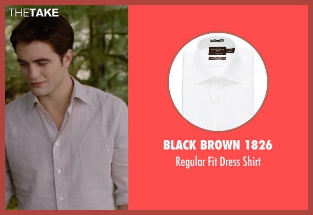Black Brown 1826 white shirt from The Twilight Saga: Breaking Dawn - Part 2 seen with Robert Pattinson (Edward Cullen)
