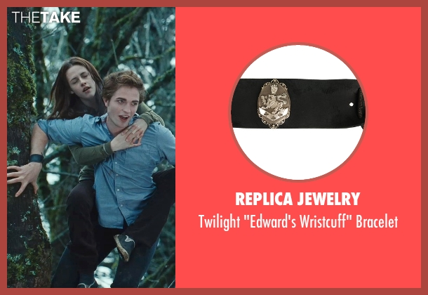 Replica Jewelry black bracelet from Twilight seen with Robert Pattinson (Edward Cullen)