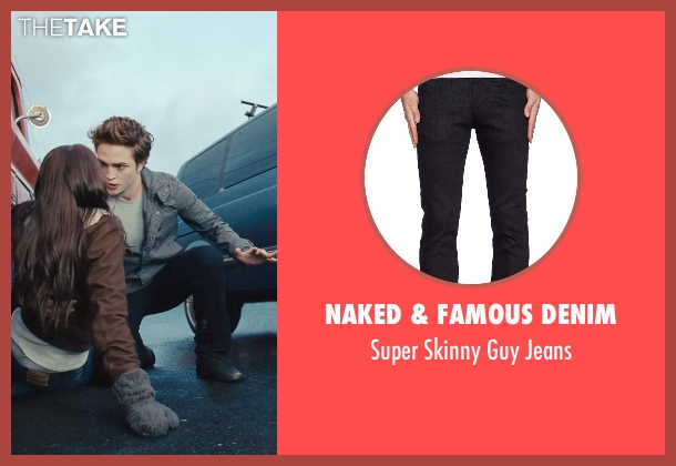 Naked & Famous Denim black jeans from Twilight seen with Robert Pattinson (Edward Cullen)