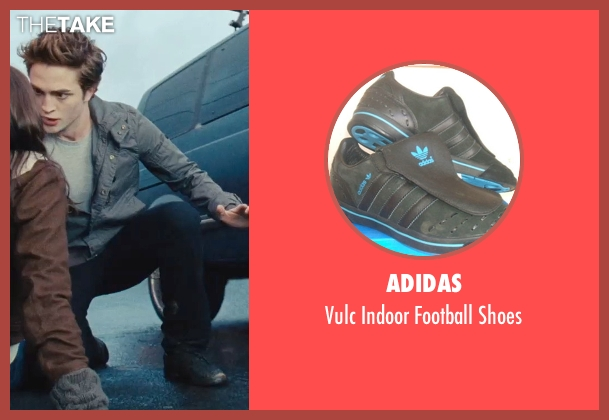 Adidas black shoes from Twilight seen with Robert Pattinson (Edward Cullen)