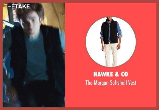 Hawke & Co black vest from Twilight seen with Robert Pattinson (Edward Cullen)