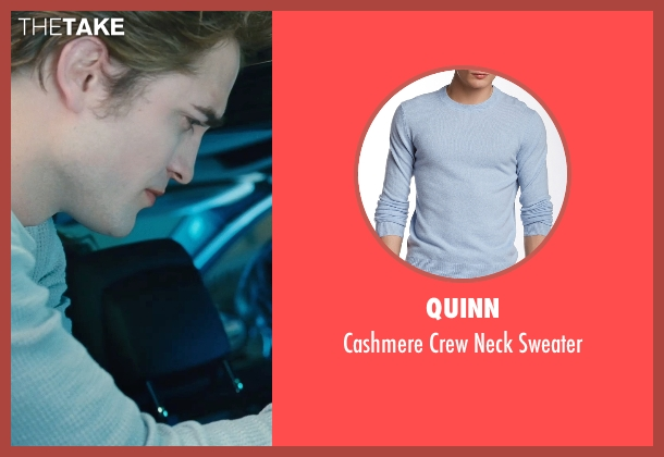 Quinn blue sweater from Twilight seen with Robert Pattinson (Edward Cullen)