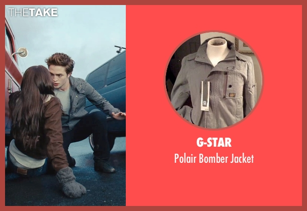 G-Star gray jacket from Twilight seen with Robert Pattinson (Edward Cullen)