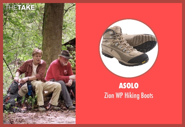 Asolo beige boots from A Walk in the Woods seen with Robert Redford (Bill Bryson)