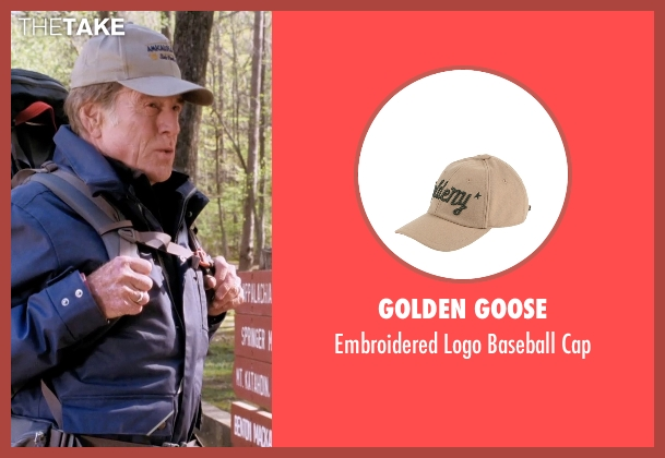 Golden Goose beige cap from A Walk in the Woods seen with Robert Redford (Bill Bryson)