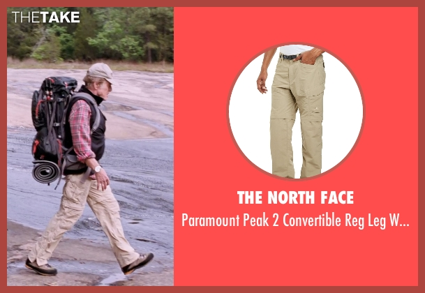 The North Face beige pants from A Walk in the Woods seen with Robert Redford (Bill Bryson)