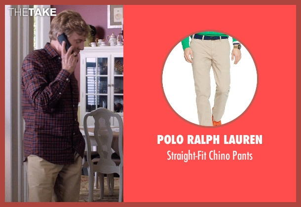 Polo Ralph Lauren beige pants from A Walk in the Woods seen with Robert Redford (Bill Bryson)